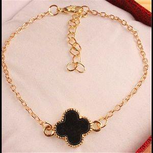 VCA Black Four Leaf Clover Bracelet