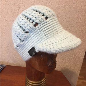 Oakley knit sky blue winter cap hat
