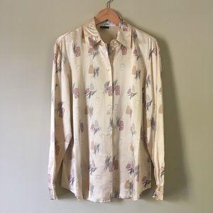 1990s vintage silk blouse