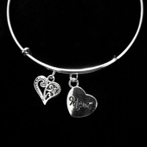 Stainless steal bracelet with charms