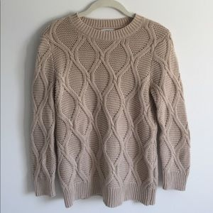OLD NAVY beige cableknit sweater
