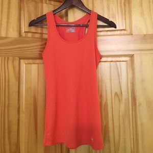 Under Armour orange fitted tank