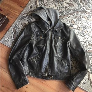 Silence and Noise leather jacket urban outfitters