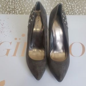 Marc Fisher Grey Suede Studded Pumps Size 9 1/2