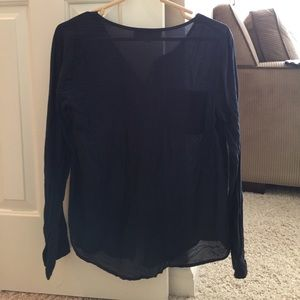 Loft navy blouse size small