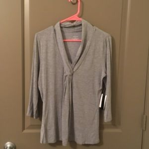 Grace Grey Long Sleeve Professional Blouse