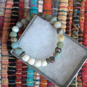 Amazonite Oil Diffuser Bracelet