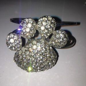 Jewelry - Crystal diamond Cuff Paw print bracelet