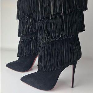 Suede Fringe CL boots