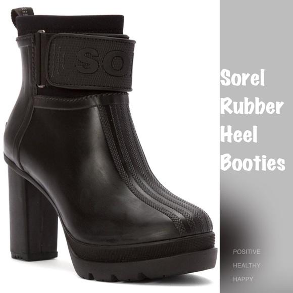 50895ec1d872 Sorel Medina III Rubber Heel Booties