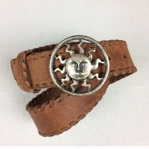 Territory Ahead SUN medallion laced leather belt