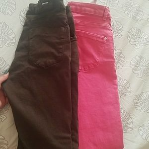 2 pairs of jeans from Zara. Worn and washed once