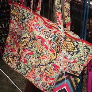 Handbags - Large shoulder bag & wallet set