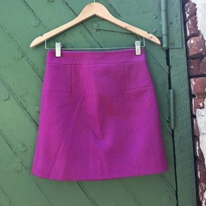 J. Crew wool blend mini skirt