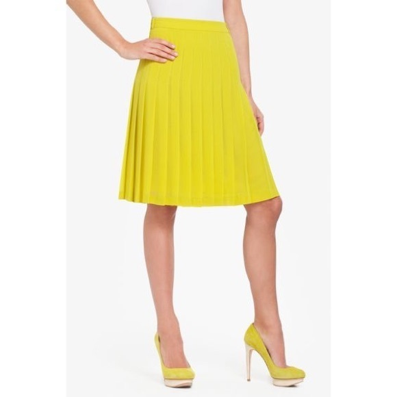 4955d9896b8d BCBGMaxAzria Skirts | Bcbg Pleated Chiffon Bonita Skirt Knee Length ...