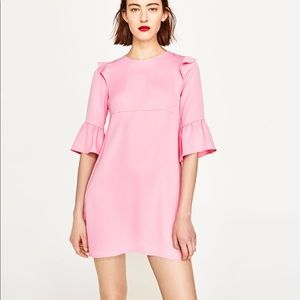*PRICE FIRM* BEAUTIFUL ZARA NWT Pink Frills Dress