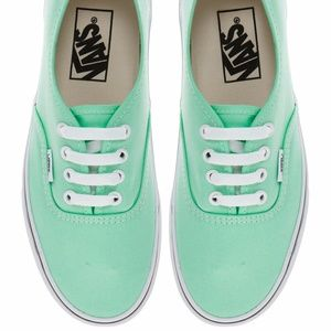 Vans mint green lace up sneakers