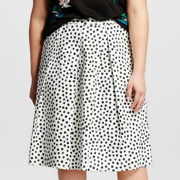 229f39737fe752 Who What Wear Skirts   Nwt Target 26w Polka Dot Skirt   Poshmark