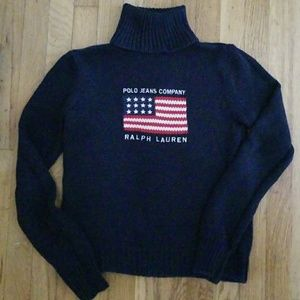 Ralph Lauren Polo Women L.S. Navy Sweater