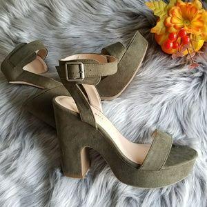 Madden Girl Olive Green Platform Sandals