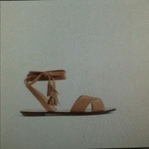 Brand new ! J crew lace up suede sandals