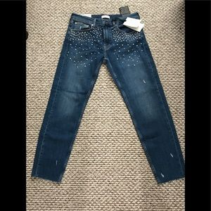 The slim boyfriend with pearls jeans (CUSTOMIZED)