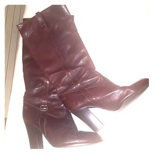 """J. Crew knee high """"Chestnut Brown"""" leather boots"""
