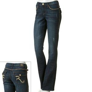 Rock&Republic Riveted Bootcut Jeans Sz 8
