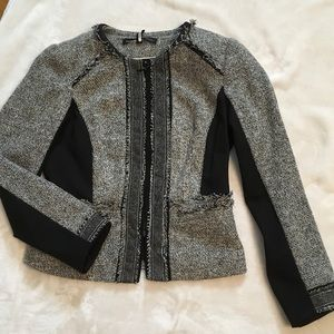 WHBM TWEED MOTO JACKET
