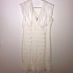 Max Studio white Tiered dress
