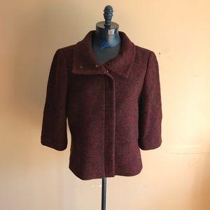 Ann Taylor Wool Crop Sleeve Coat
