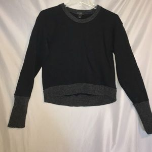 Women's black and grey sweater j crew size s