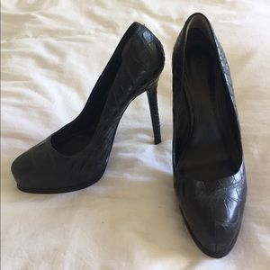 Croc embossed platform heels (Aldo)