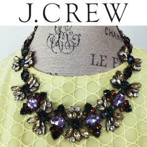 NWT J. Crew Fall Floral Crystal Necklace