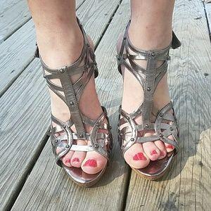 *Silver Guess Heels*