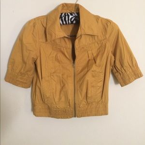 Forever 21 Fall Jacket Mustard Size Large