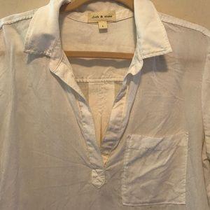 Cloth & Stone (Anthropologie) white cotton blouse