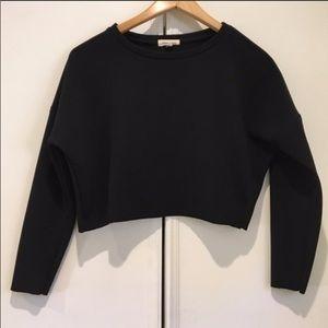 UO Black Long Sleeved Crop Top