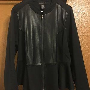 Lane Bryant Black Peplum Jacket size 18