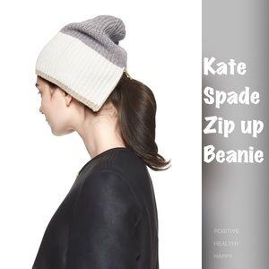 NWOT Kate Spade Zip Up Beanie