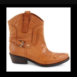 Franco Sarto Cowgirl Western Ankle Boots 9.5M