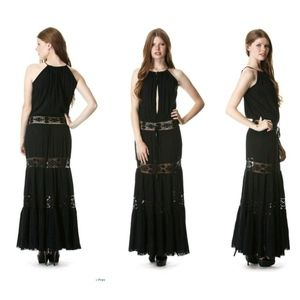 Michelle jonas keyhole dress black