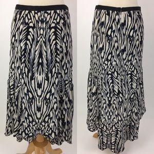 Leifsdottir Anthropologie silk high low skirt