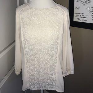 Cream and white Maeve top