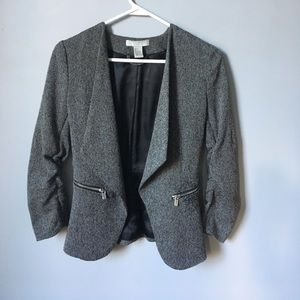 Grey black blazer size 4 h&m