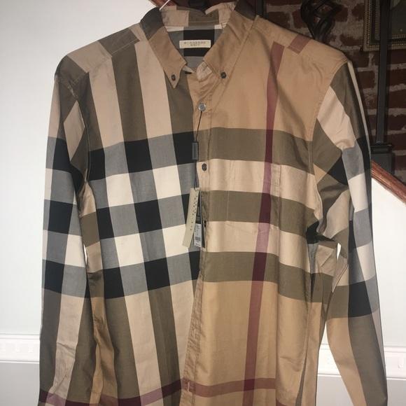 adc957b5 Burberry Shirts | Brand New Wtags Brit Check Shirt Medium | Poshmark