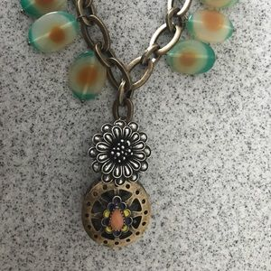 LUCKY BRAND BoHo Mandela Leather Necklace (RET)
