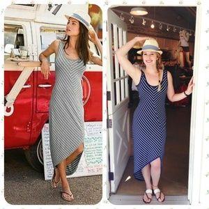 Athleta Striped Cross-Shore Maxi Dress