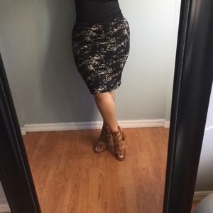 H&M basic jersey pencil skirt