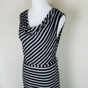 Cowel-neck maternity tank dress